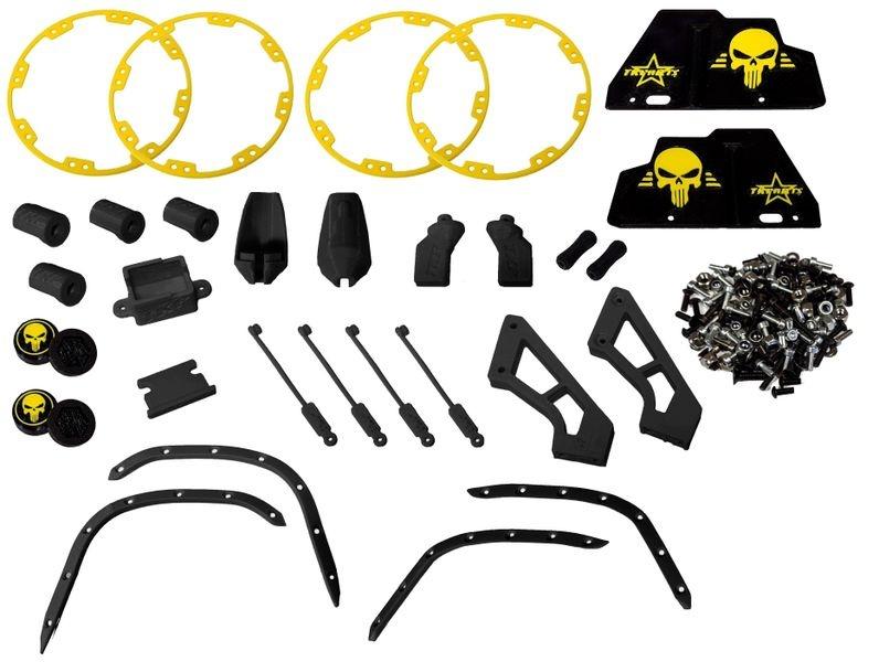 JS-Parts Full Option Komplettset ultraflex schwarz/gelb