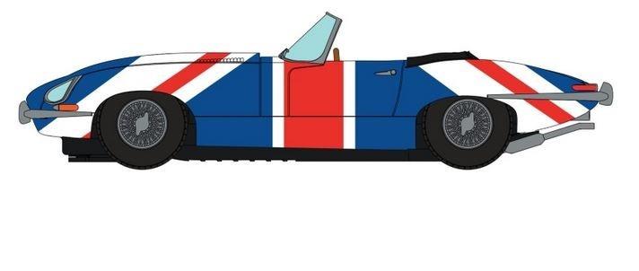 Scalextric Jaguar E-Type Union Jack HD
