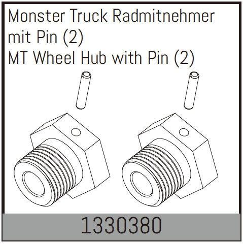 Absima Monster Truck Radmitnehmer mit Pin (2)