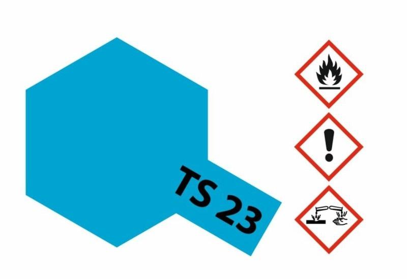 Tamiya Acryl-Sprühfarbe TS-23 Hellblau glänzend 100ml