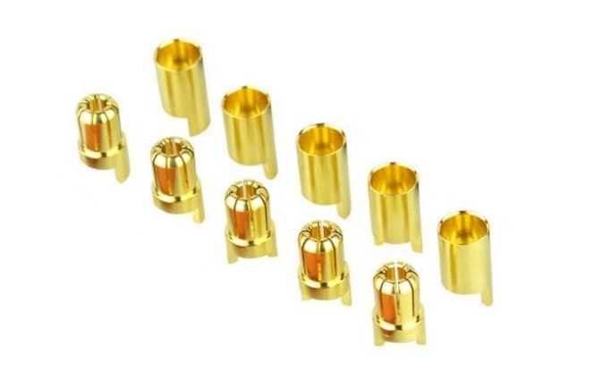 Goldkontakt Ø6,5mm, 5 Paare