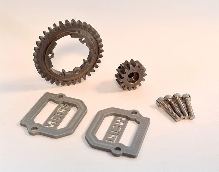MLine Harden Steel Tuning Hauptzahnrad und Motorritzel 35/14