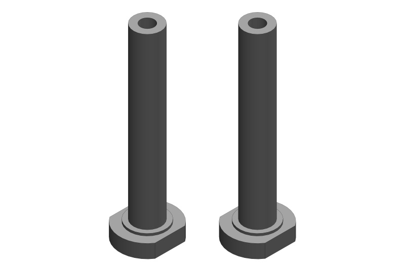 Team Corally Servo Saver Post - Steel - 2 pcs