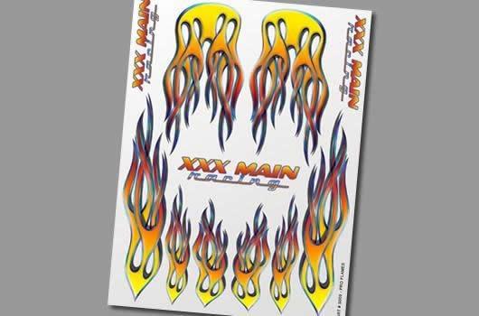 XXX Main Aufkleber - Pro Flames