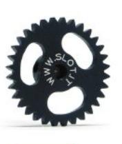 Slot.It Spurzahnrad aus Alu PAS 18mm 32 Zähne für 2,38mm