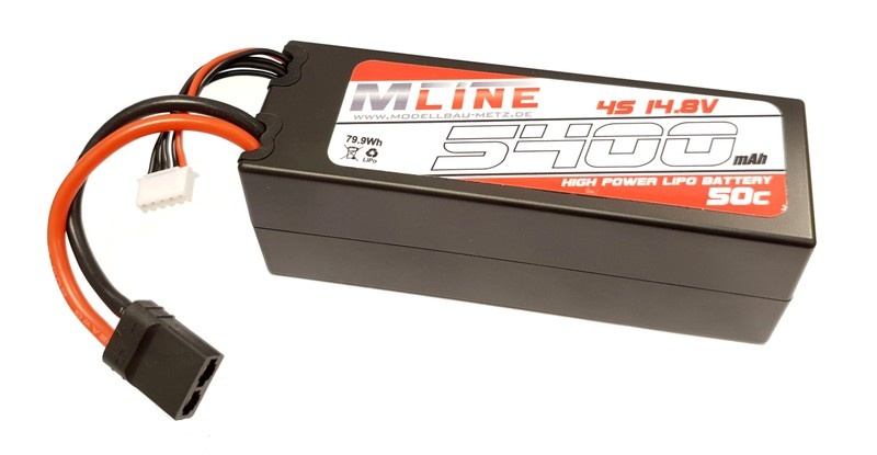 MLine High Power LiPo Akku 50C 4S 14.8V 5400mAh &