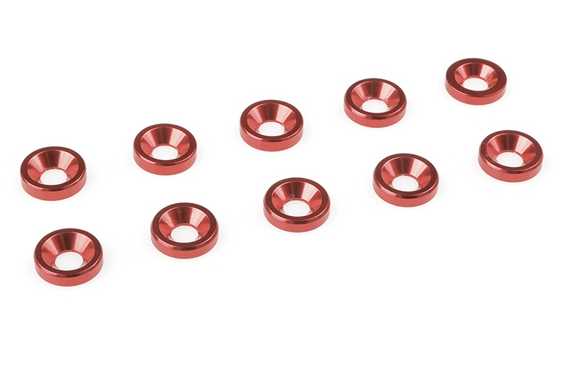 Team Corally - Aluminium Washer - for M3 Flat Head Screws