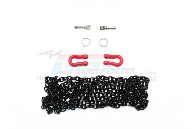 GPM Scale Accesories: Metal towing rings w/chain for crawler