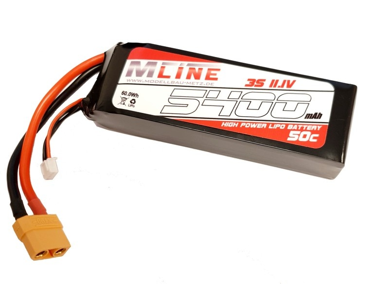 MLine High Power LiPo Akku 50C 3S 11.1V 5400mAh