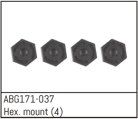 Absima Hex Wheel Hubs (4)