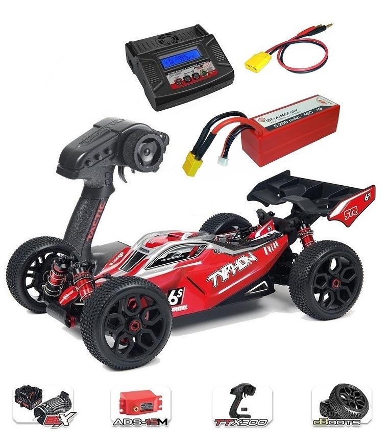 ARRMA TYPHON 6Sv2 BLX 4WD Race Buggy 1/8 RTR - SPARSET 7-
