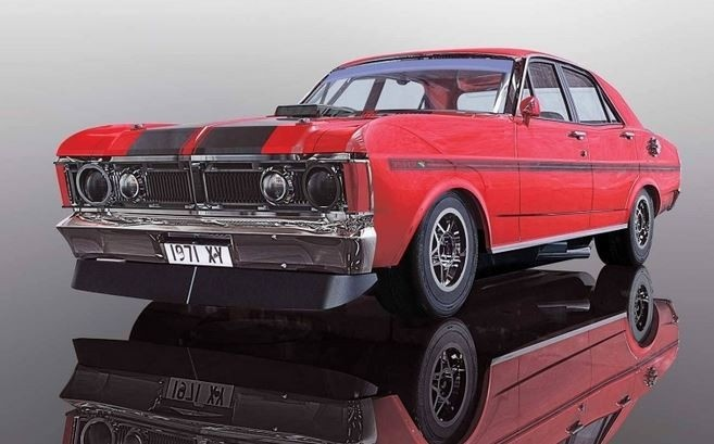 Scalextric 1:32 Ford Falcon 1970 Candy Apple Red