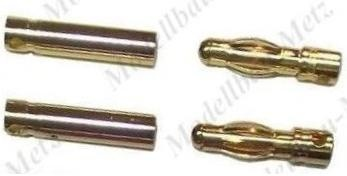 2 Paar Goldstecker 4,0mm