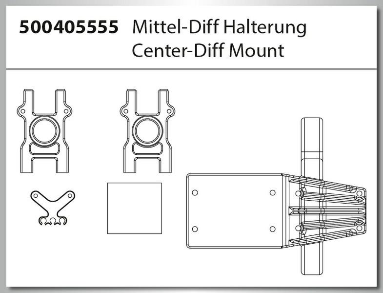 Carson X8EB Specter BL 4S/6S Mitteldiff Halterung