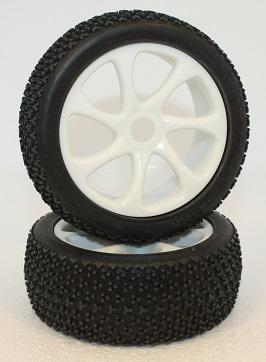 Ansmann Reifen-Set Deuce mit Einlagen und Felgen 1:8, 2 St.