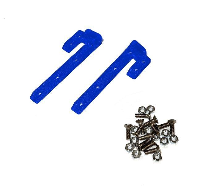 JS-Parts ultraflex Dachskid 70x20mm für 1/8 blau