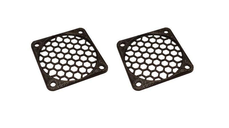 JS-Parts Lüftergitter 45mm / 2 Stück (Set) schwarz