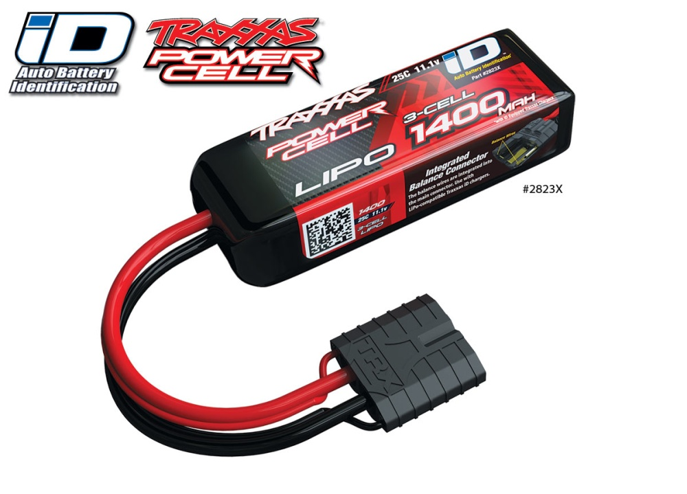 Traxxas iD Power Cell LiPo 1400mAh 11.1V 3-cell 25C