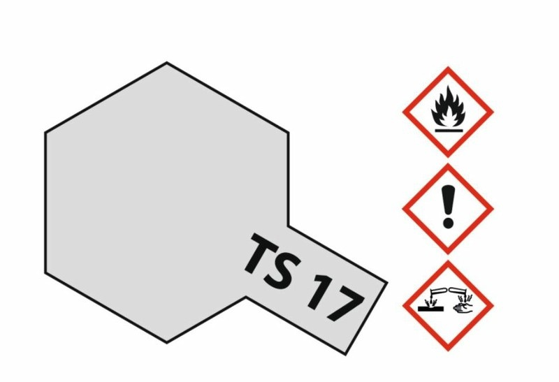 Tamiya Acryl-Sprühfarbe TS-17 AluminiumSilber glänzend 100ml