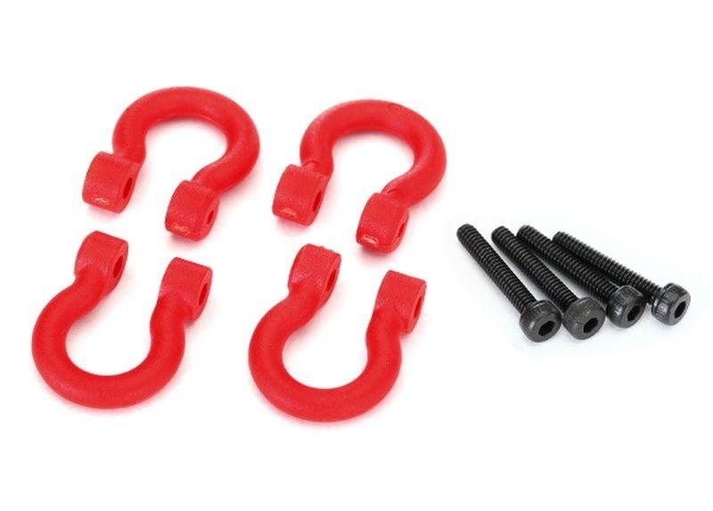 Traxxas  D-rings, red (v/h) 2.0x12 CS TRX-4 (4)