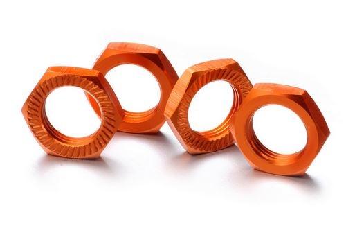 Absima Alu Radmutter selbstsichernd 17mm orange, 4 Stück