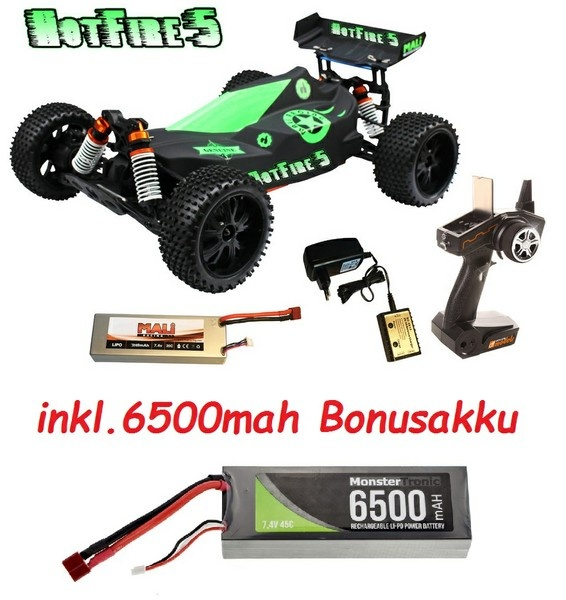 DF-Models HotFire 5 1:10XL Line 4WD BL Buggy 2.4GHz RTR 1:10