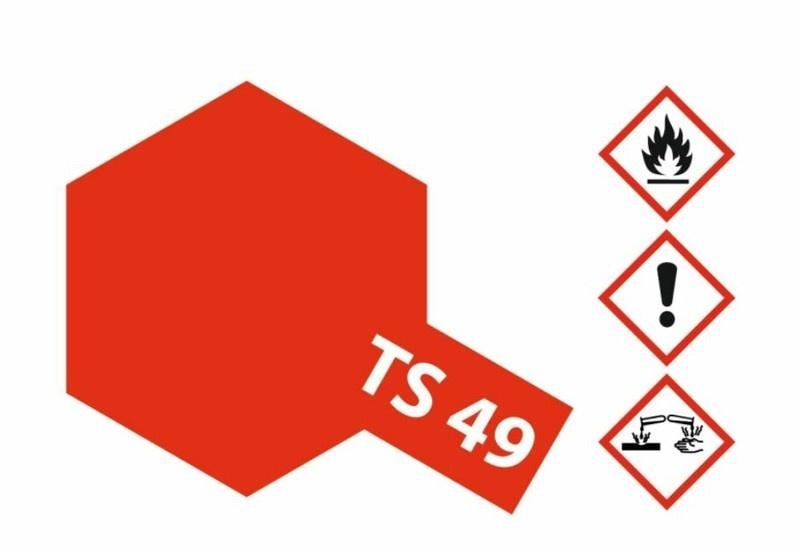 Tamiya Acryl-Sprühfarbe TS-49 Fxxxxxx RotHell glänzend 100ml