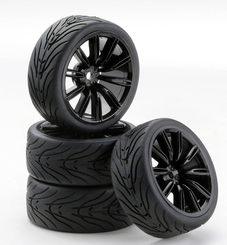 Carson SC-Räder VINS Style schwarz, 4 Stück