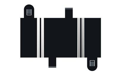Scalextric SPORT Gerade 78mm (2)
