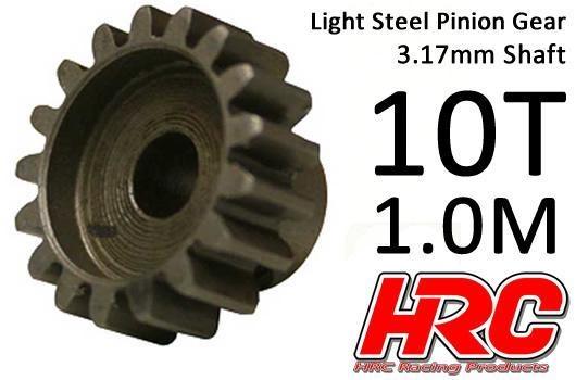 HRC Motorritzel - 1.0M / 3.17mm Achse - Stahl - Leicht - 10Z