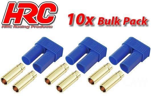 HRC Racing Stecker - Gold - EC5 - weibchen (10 Stk.)