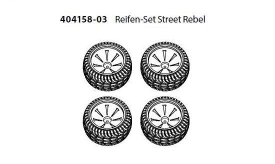 Carson RC Reifen-Set Street Rebel 1:10 (404158) (4)