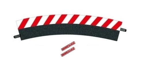 Carrera 1 Stück Außenrandstreifen für Kurve 3/30 Grad