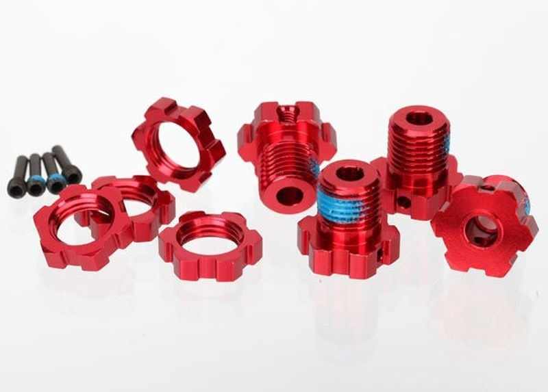 Traxxas WHEEL HUBS, SPLINED, 17MM (RED)