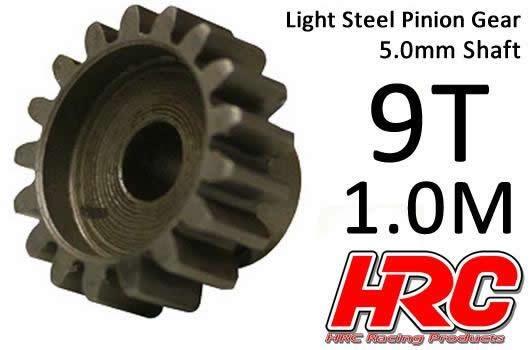 HRC Motorritzel - 1.0M / 5mm Achse - Stahl - Leicht - 9Z