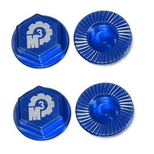 MMM Radmuttern-Set 17mm aus 7075 Aluminium - blau