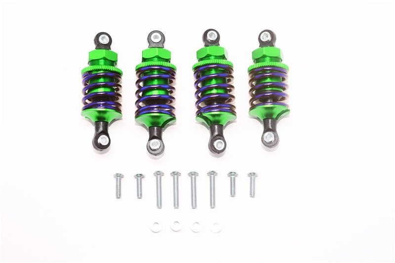 GPM aluminium front (50mm)+rear (47mm) oil filled dampers -