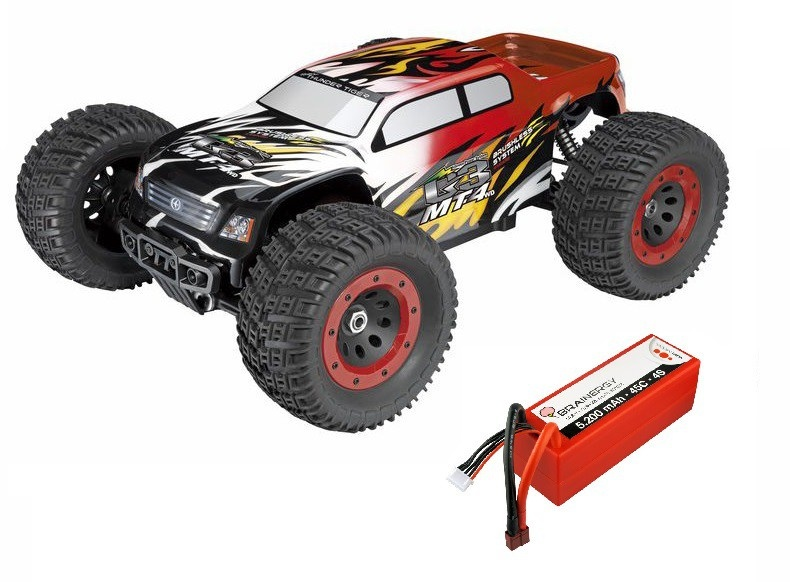 ThunderTiger MT4 G3 4WD BL MT 6s 2.4GHz rot RTR 1:8 SPARSET1