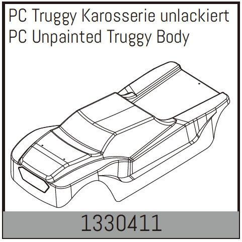 Absima PC Truggy Karosserie unlackiert