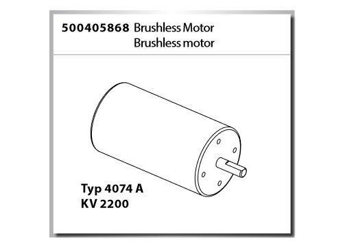 Carson Brushless Motor Typ 4074A KV 2200