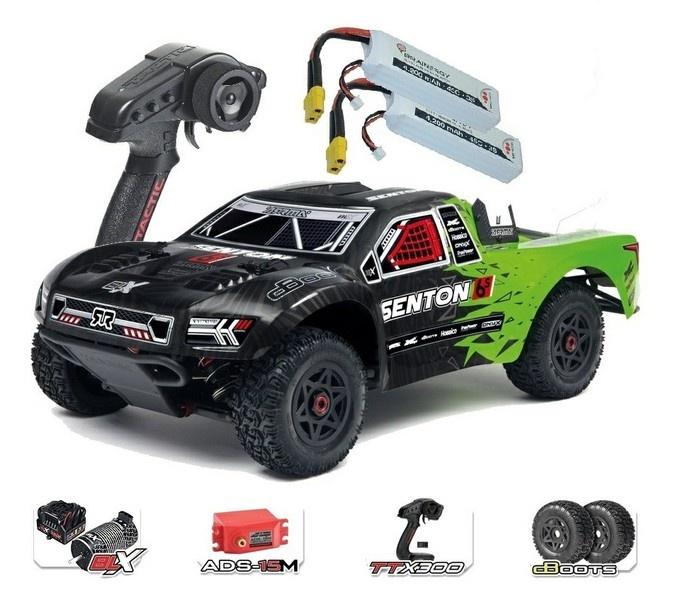 Arrma Senton 6s BLX 4WD SC Truck RTR, grün - SPARSET2 -