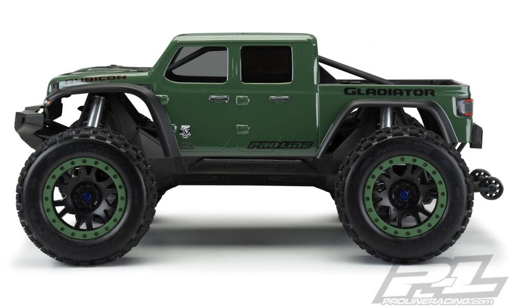 ProLine Jeep Gladiator Rubicon Karo klar Pre-Cut für X-MAXX