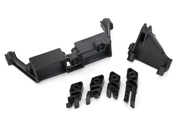 Traxxas Servo mount, 2-Gang, T-Lock/wire clips TRX-4