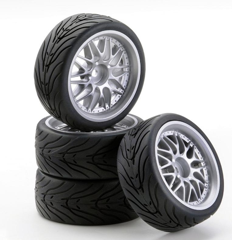 Carson SC-Räder W20 Style silber, 4 Stück