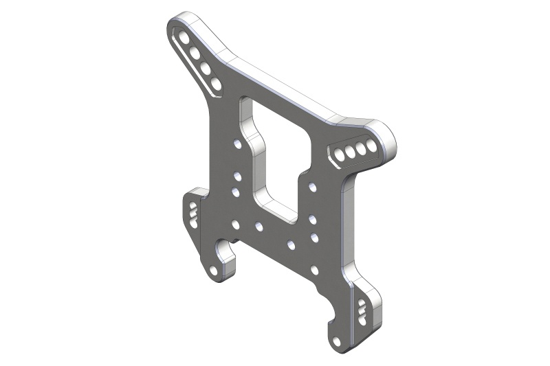 Team Corally Shock Tower - 5mm - Aluminum - Rear - 1 pc