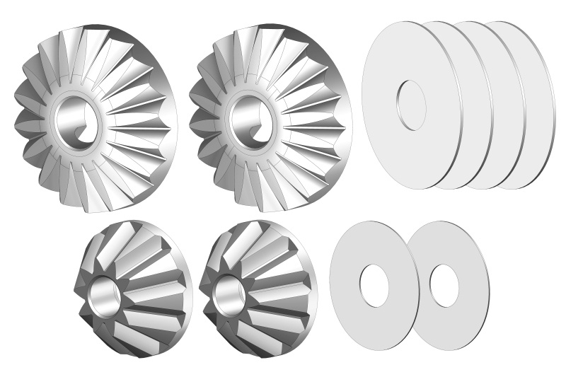 Team Corally Planetary Diff. Gears - Steel - 1 Set