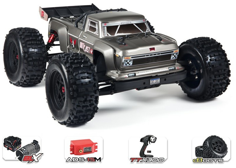 Arrma RC Outcast 6s BLX 4WD Stunt Truck 2.4GHz RTR 1:8