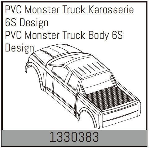 Absima PVC Monster Truck Karosserie 6S Design