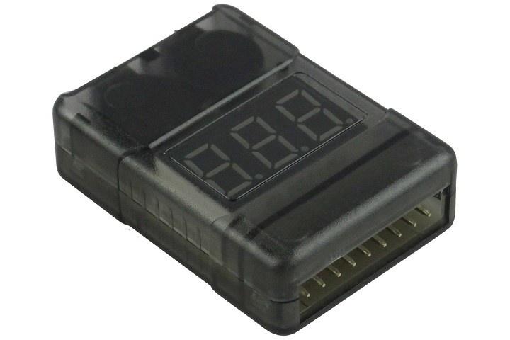 Yuki Model LiPo-Checker  1-8s -  im Gehäuse - einstellbar