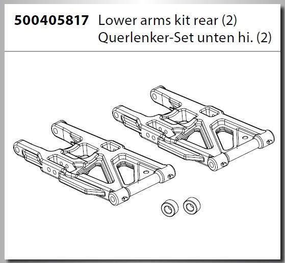 Carson V4 Truggy Querlenker Set hinten (2)